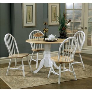 August Grove 5 Piece Drop Leaf Breakfast Nook Dining Set