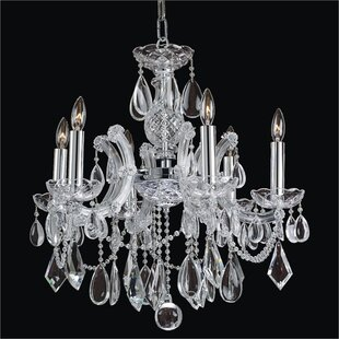 Crystal maria theresa chandelier wayfair maria theresa 6 light candle style chandelier aloadofball Gallery
