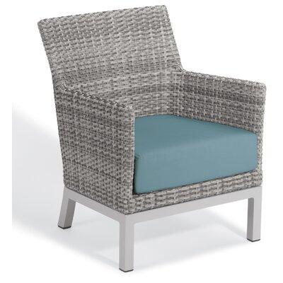 Brayden Studio Saleem Club Patio Chair with Cushions Cushion Color: Ice Blue