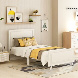 Mederos Twin Solid Wood Platform Bed by Corrigan Studio