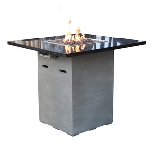 Alps Concrete Propane Fire Pit Table