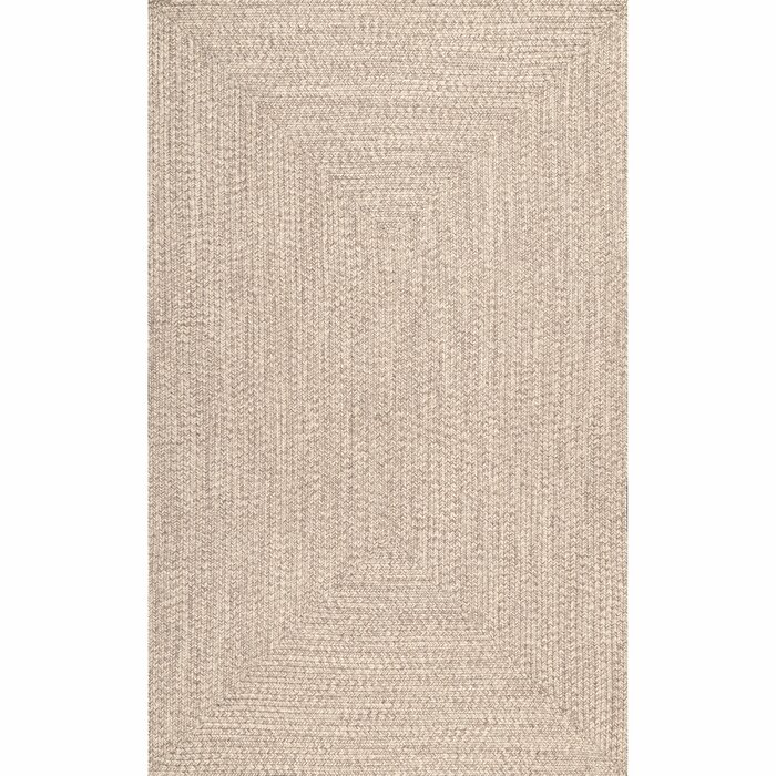 Bromsgrove Handmade Braided Tan Indoor / Outdoor Area Rug