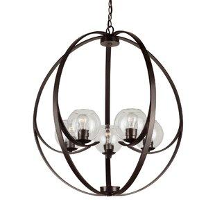 Williston Forge Vihaan 5-Light Globe Chandelier
