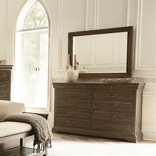 Pond Brook 10 Drawer Double Dresser with Mirror