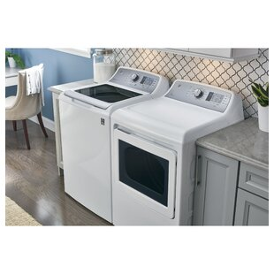 4.5 Cu. Ft. Top Load Agitator Washer and 7.4 Cu. Ft. Electric Dryer by GE Appliances