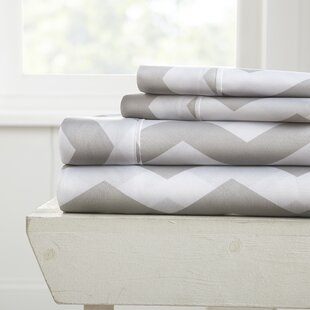 Fiala Chevron Premium Ultra Soft Printed Bed Sheet Set