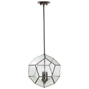 Lucerne 3-Light Geometric Chandelier by Wrought Studio
