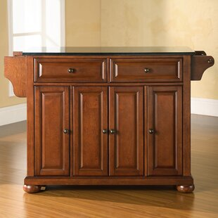 Darby Home Co Chan Kitchen Island with Granite Top