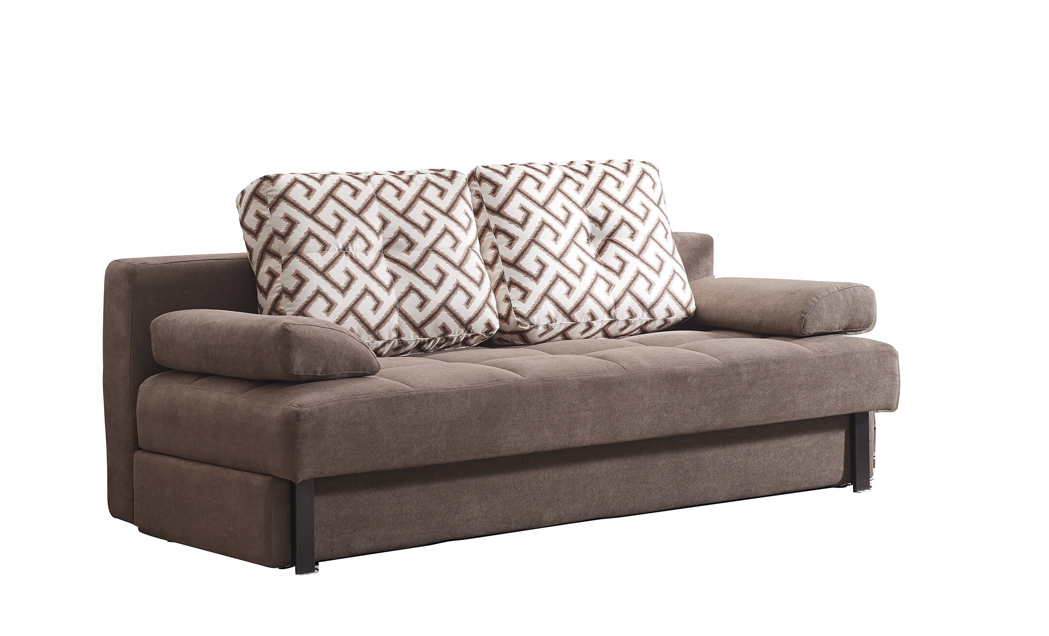 Convertible Microsuede Sofa Bed