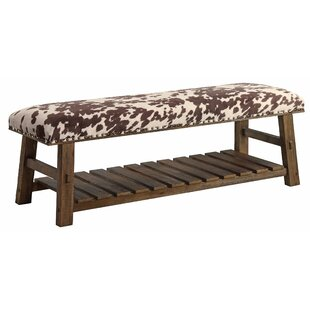 Loon Peak Rego Upholstered Storage Bench