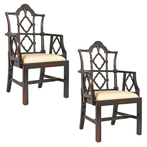chinese chippendale armchair set of 2