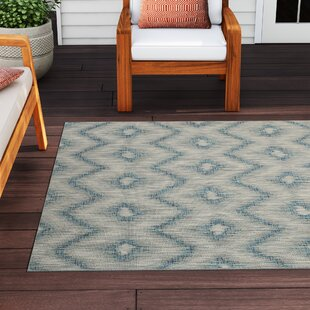 Kaysie Gray/Blue Indoor/Outdoor Area Rug