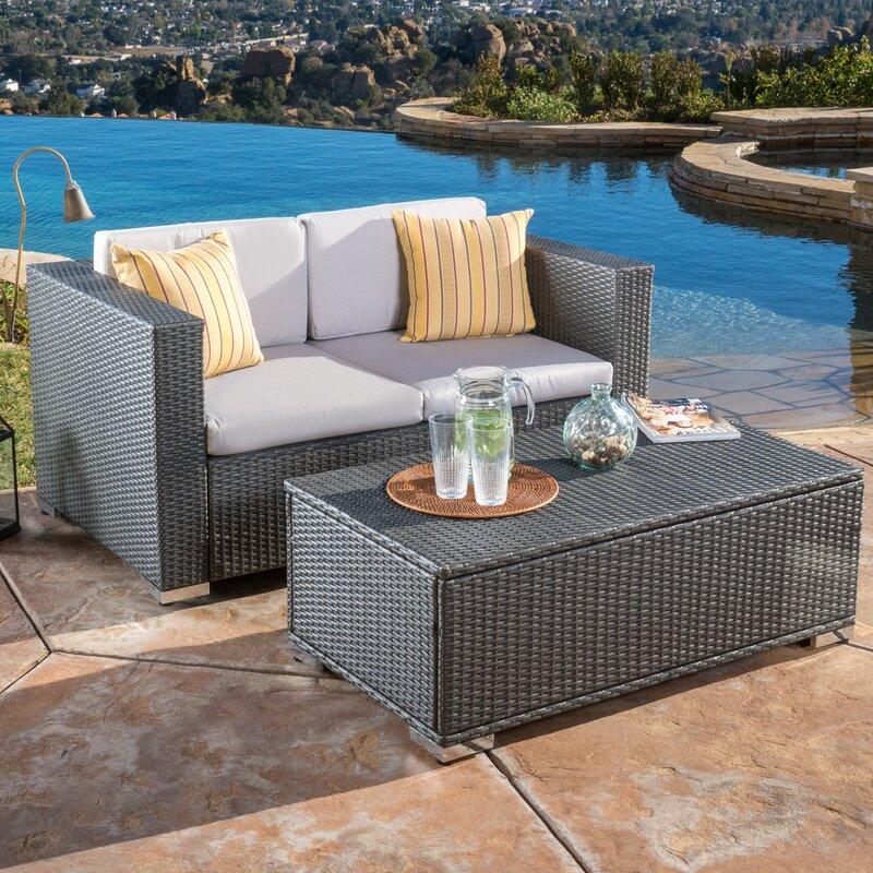 Varick Gallery Tickenham Piece Outdoor Sofa Set Reviews Wayfair