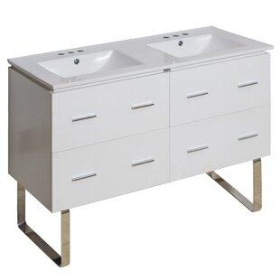 Hinerman 48 Double Bathroom Vanity Set By Royal Purple Bath Kitchen