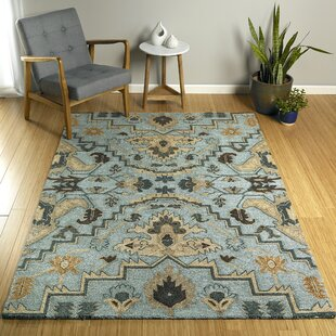 Elkhorn Hand-Tufted Blue/Beige Indoor/Outdoor Area Rug