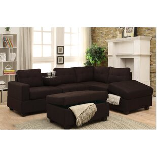 Hulett Woven Fabric Sectional by Latitude Run