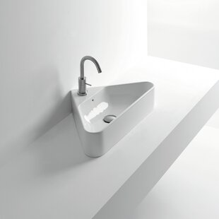 Bargain Normal Ceramic Specialty Vessel Bathroom Sink with Overflow ByWS Bath Collections