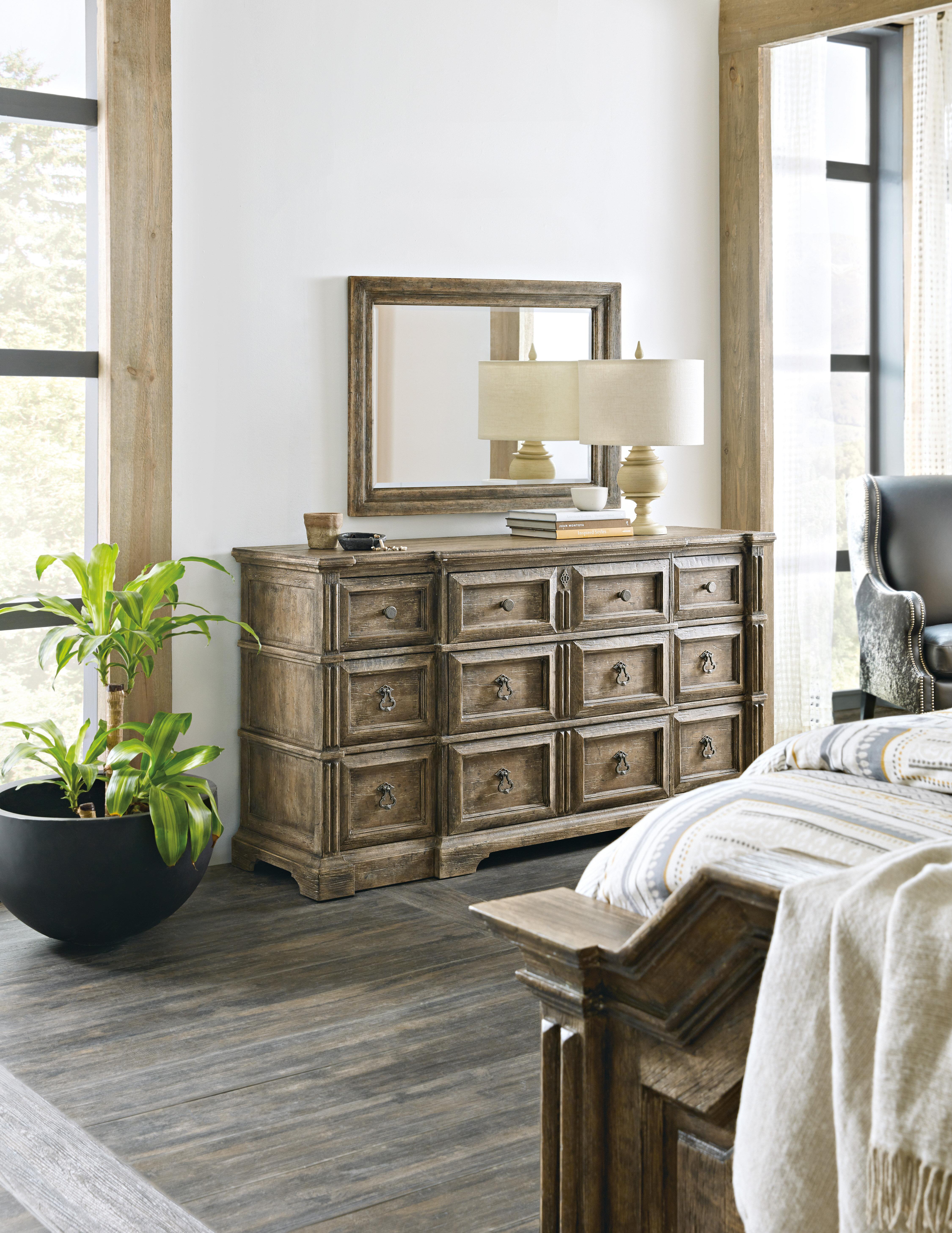 Hooker Furniture La Grange 9 Drawer Dresser With Mirror Wayfair