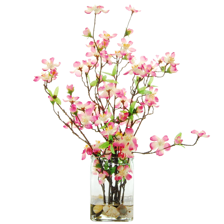 Latitude Run Dogwood Floral Arrangement Reviews Wayfair