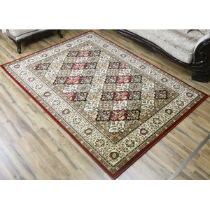 Super Belkis Red/Green Area Rug