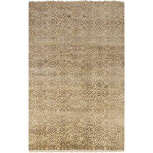 Reviews Harrisville Hand Woven Wool Ivory/Khaki Area Rug ByGracie Oaks