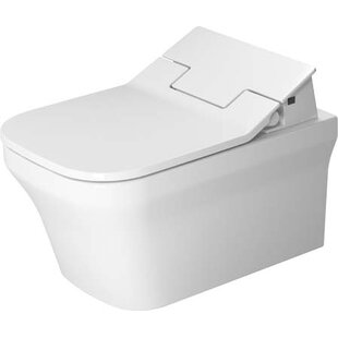 Duravit P3 Comforts Dual-Flush Elongated Wall Mounted Toilet with High Efficiency Flush (Seat Not Included)