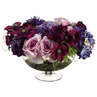 Silk flower depot coupon flowers healthy 13 rose ranunculus fl arrangement in gl vase by silk flower depot silk flower depot wayfair mightylinksfo