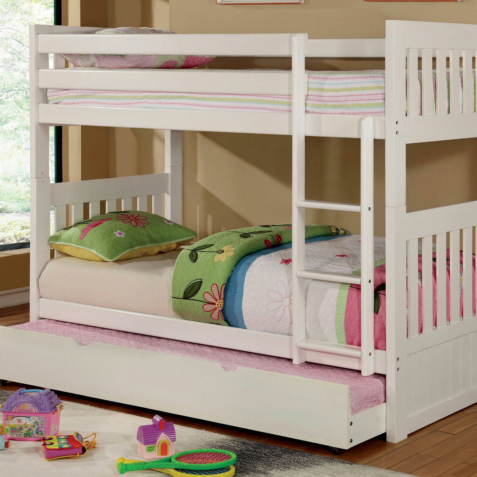 Harriet Bee Fortuna Twin Over Twin Bunk Bed Wayfair