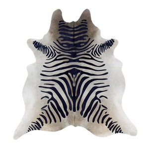 Zebra Print Hide in Natural With Black