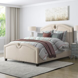 Debord Curved Top Upholstered Panel Bed