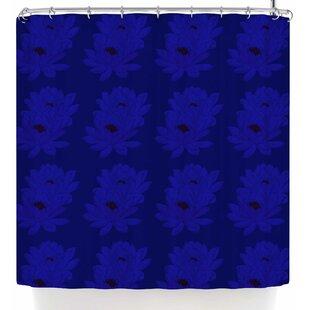 East Urban Home Stephanie Eden Water Lilies Night Shower Curtain