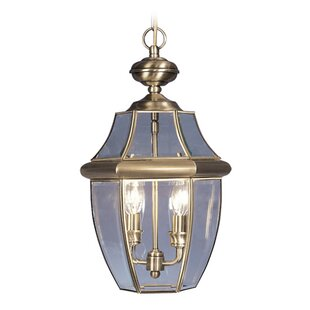Low priced Gustavson 2-Light Outdoor Hanging Lantern By Three Posts