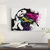 'Funky Hair'  by Julie-Mila Bouffard Graphic Art Print on Wrapped Canvas