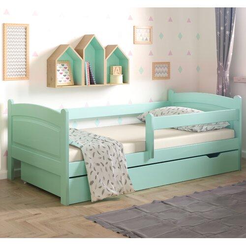 Funktionsbett Lugo mit Schublade | Schlafzimmer > Betten > Funktionsbetten | Türkis | Massivholz - Holz - Kiefer | Nordville