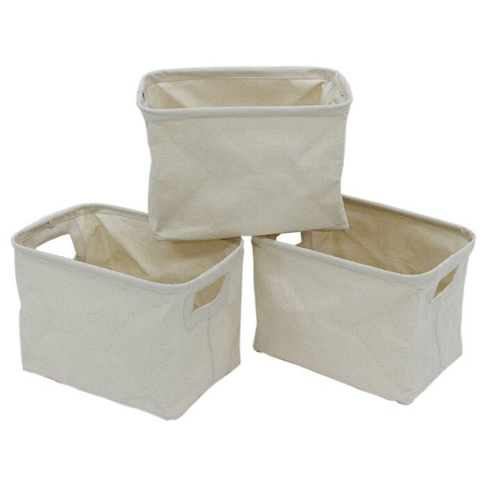 Rectangular Canvas Storage Basket