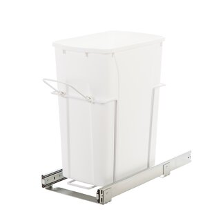 Knape&Vogt Plastic 8.75 Gallon Pull Out/Under Counter Trash Can