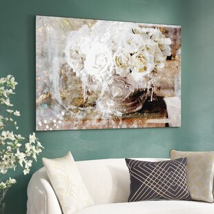 Nice U0027Serving Roses Floral And Botanical Artu0027 Wrapped Canvas Print