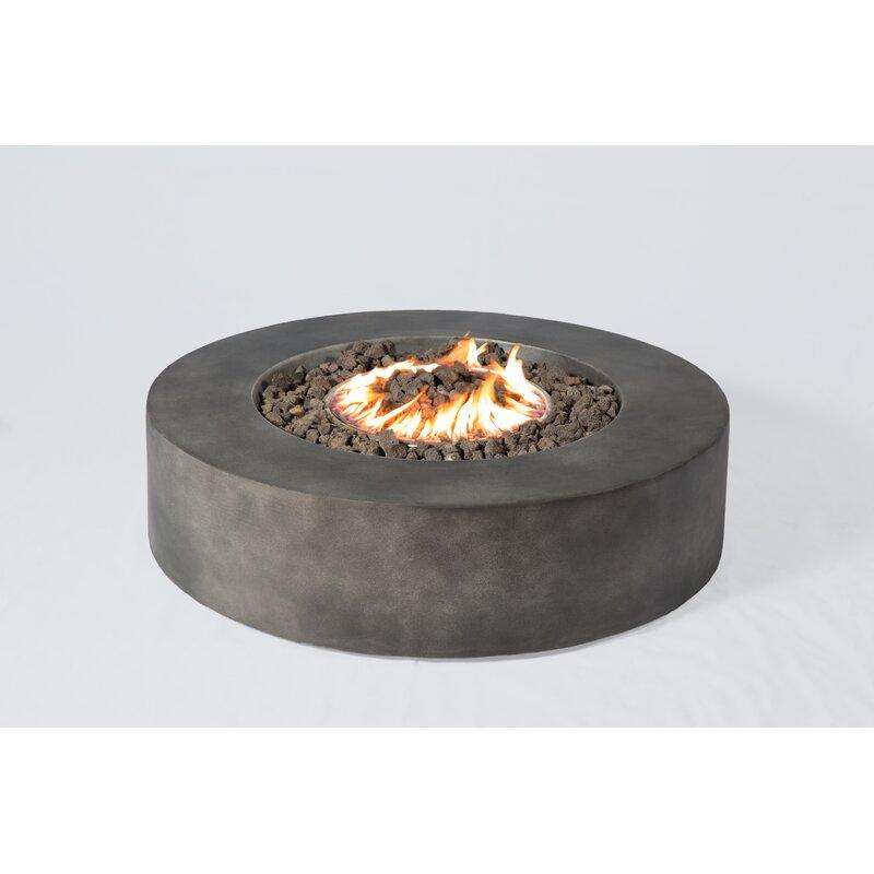 Santiago Concrete Propane/ Natural Gas Fire Pit Table