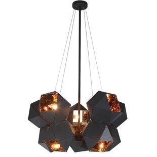 Lemelin 10-Light Geometric Chandelier by Brayden Studio
