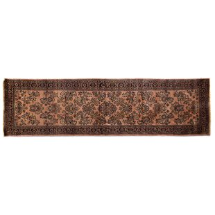 Purchase One-of-a-Kind Fine Indo Hand-Woven Wool Rust/Black Area Rug ByExquisite Rugs