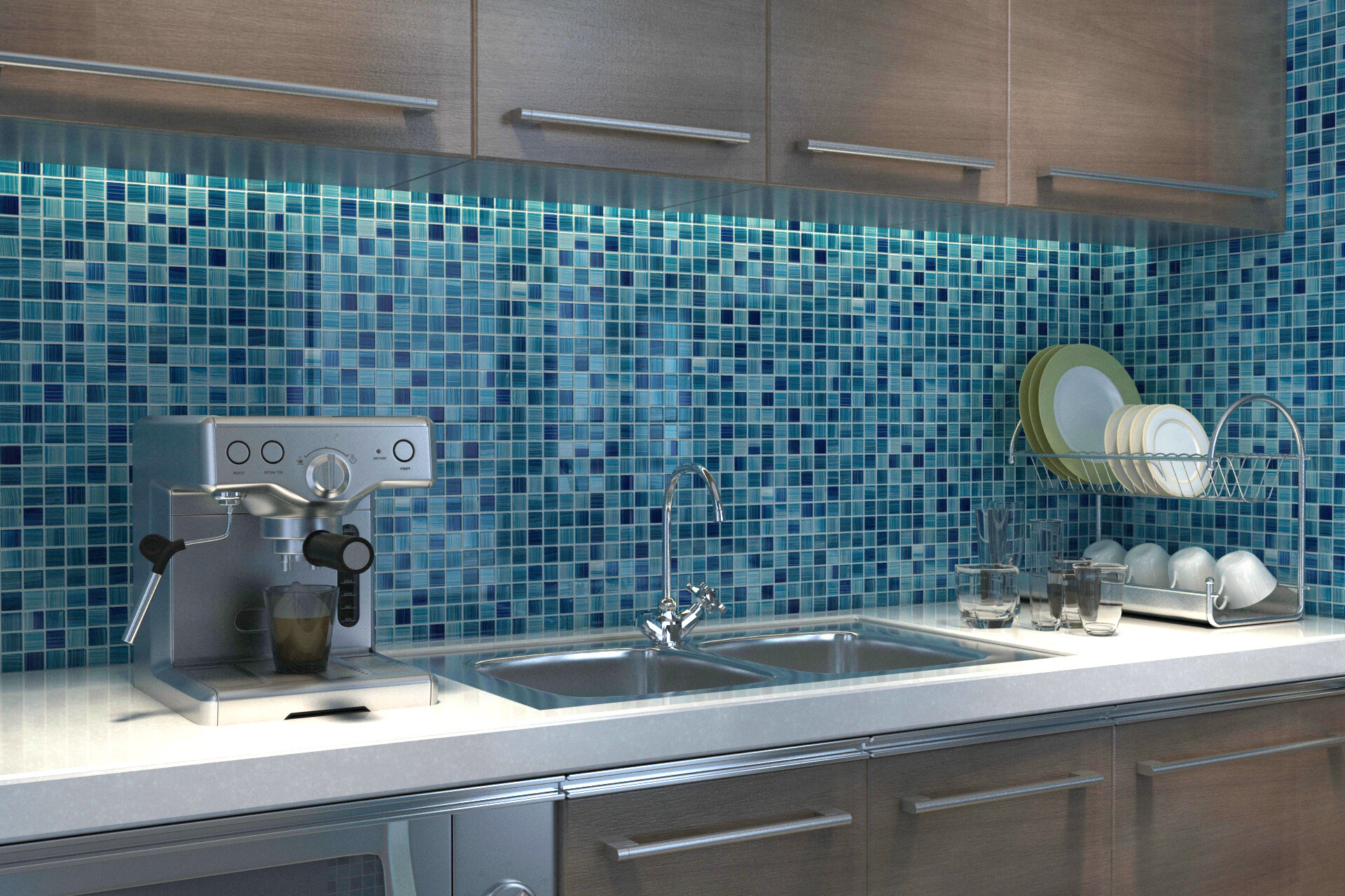 Gl Mosaic Wall Floor Tile