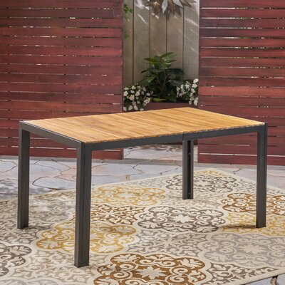 Starr Solid Wood Dining Table by Loon Peak New