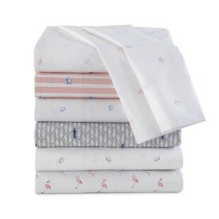 Southern Tide Flamingo 200 Thread Count 100% Cotton Sheet Set