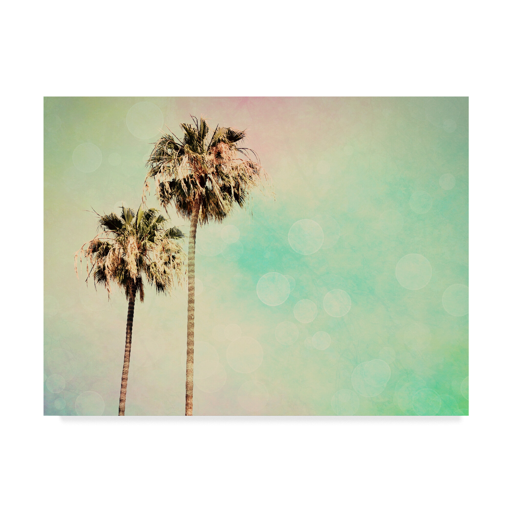 East Urban Home Palm Trees Pastels I Graphic Art Print On Wrapped Canvas Wayfair