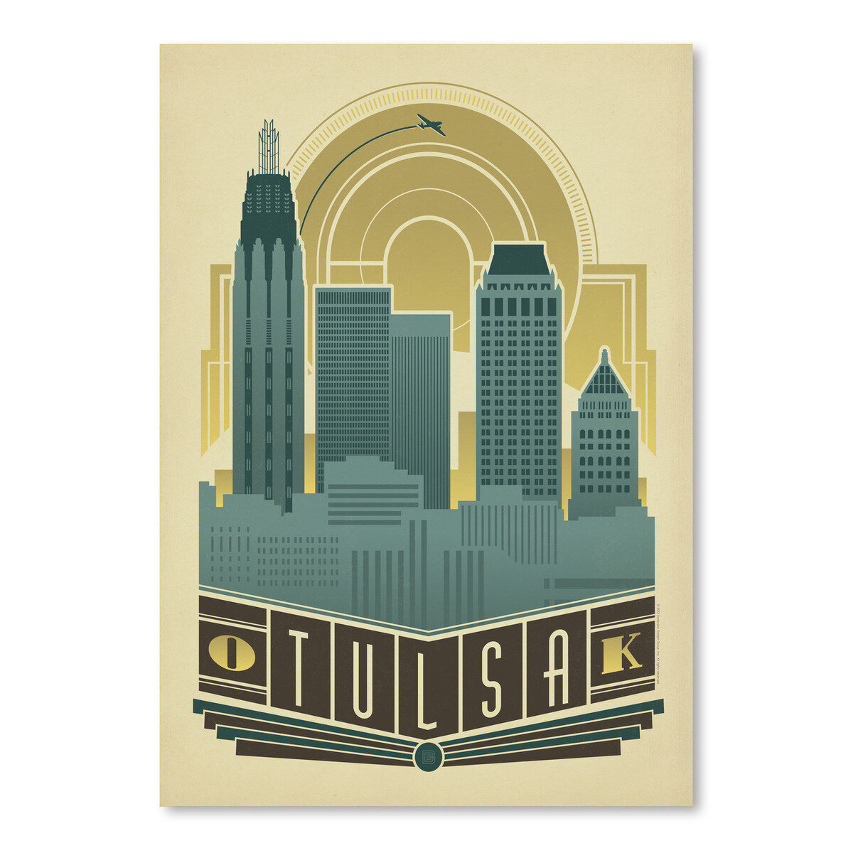 Home Decor Tulsa: East Urban Home Tulsa Decor Skyline Vintage Advertisement