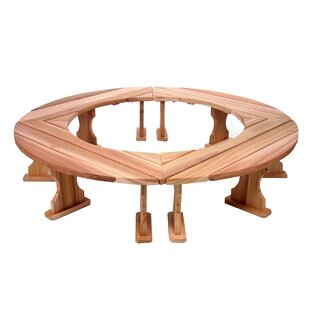 Round Wood Tree Bench