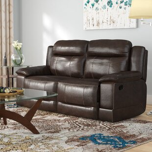Rindham Leather Reclining Loveseat