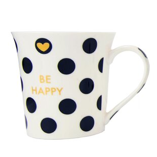 Happiness 12 oz. Novelty Bone China Coffee Mug