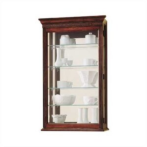 Edmonton Wall-Mounted Curio Cabinet by Howard Miller®