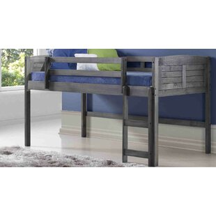 Best Reviews Wilbert Louvered Twin Low Loft Bed By Harriet Bee